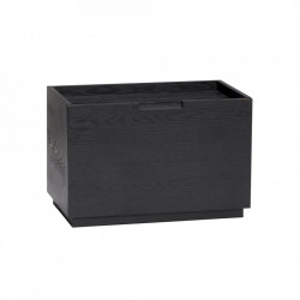 Cutie neagra din lemn de frasin Apika Hubsch