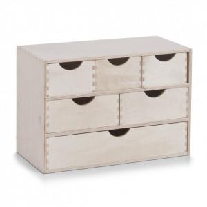 Cutie pentru bijuterii maro din lemn de mesteacan 20x40 cm Wood Zeller