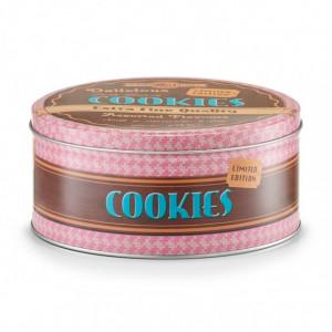 Cutie pentru prajituri multicolora din metal Cookies Zeller