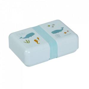 Cutie pentru pranz albastra din polipropilena Ocean A Little Lovely Company