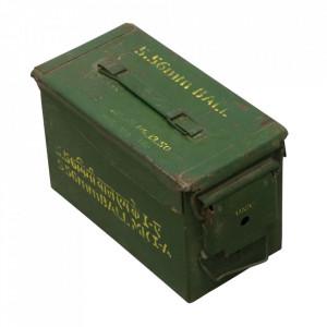 Cutie verde din metal cu capac Army Raw Materials