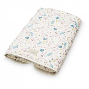 Cuvertura matlasata din bumbac pentru copii 75x95 cm Janey Pressed Leaves Rose Cam Cam