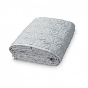 Cuvertura matlasata gri din bumbac 140x200 cm Anila Solid Grey Cam Cam