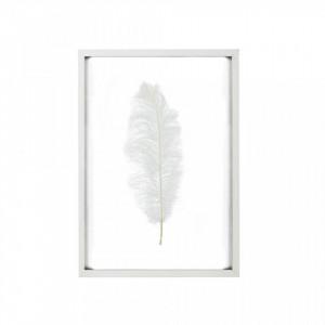 Decoratiune alba din lemn si sticla pentru perete 53x75 cm Sybil White LifeStyle Home Collection