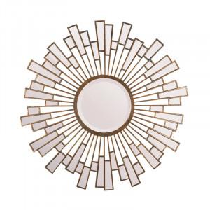Decoratiune cu oglinda din fier pentru perete 90 cm Sunshine LifeStyle Home Collection
