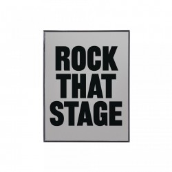 Decoratiune cu oglinda din metal pentru perete 22,5x29,5 cm Morning Glory Rock That Stage Seletti