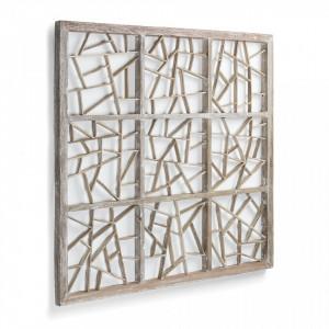 Decoratiune de perete din lemn 100x100 cm Avaline Kave Home