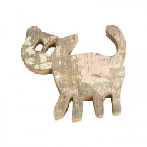 Decoratiune de perete maro din lemn reciclat 27 cm Cat Raw Materials