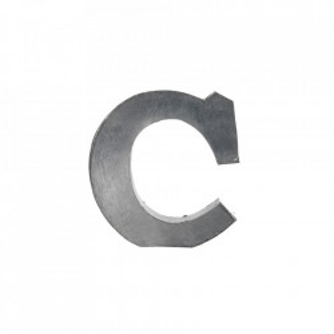Decoratiune gri din fier 5,5 cm Letter C Madam Stoltz