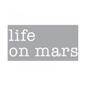 Decoratiune luminoasa alba din sticla Neon Art Life On Mars Seletti