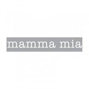 Decoratiune luminoasa alba din sticla Neon Art Mamma Mia Seletti