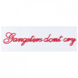 Decoratiune luminoasa rosie din PVC LED Gangsters Don't Cry Bold Monkey