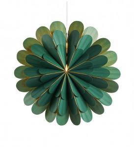 Decoratiune luminoasa suspendabila verde din hartie si plastic Marigold Markslojd