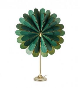 Decoratiune luminoasa verde/aurie din hartie si metal Marigold Markslojd