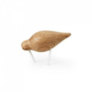 Decoratiune maro/alba din lemn si otel 7 cm Shorebird Normann Copenhagen