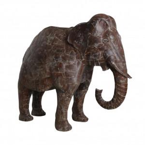 Decoratiune maro din fier 155 cm Elephant XXL Raw Materials