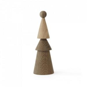 Decoratiune maro din lemn 18 cm Piero Oyoy