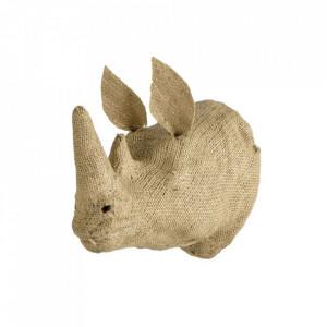 Decoratiune maro din panza de iuta pentru perete 12x20 cm Rhino Quax