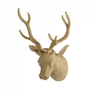 Decoratiune maro din panza de iuta pentru perete 28x43 cm Deer Quax