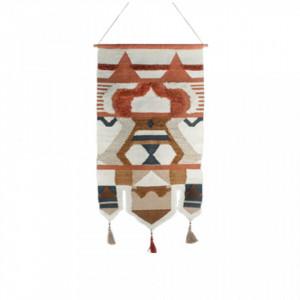 Decoratiune multicolora din lemn si bumbac pentru perete 90x180 cm Rorie Large LifeStyle Home Collection