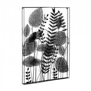 Decoratiune neagra din metal pentru perete 61x81 cm Denecia La Forma