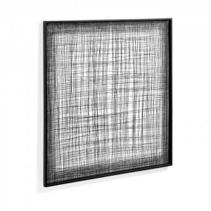 Decoratiune neagra din metal pentru perete 79x79 cm Christine Kave Home