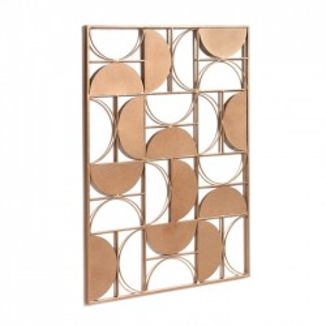Decoratiune perete aramie din metal 72x100 cm Bronde La Forma