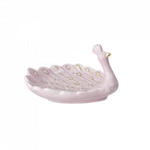 Decoratiune roz din ceramica 8 cm Peacock Bloomingville