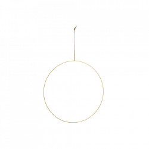 Decoratiune suspendabila maro alama din fier si iuta 40 cm Wire Ring Maxi Madam Stoltz