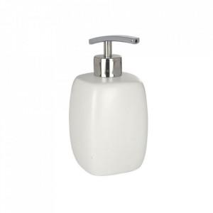 Dispenser alb/argintiu din ceramica 440 ml Faro Soap White Wenko