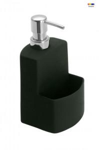 Dispenser negru din ceramica 380 ml True Colors Festival Black Wenko