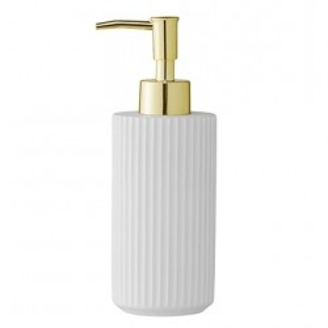 Dispenser sapun lichid alb din rasina 6,5x19 cm Soap Bloomingville
