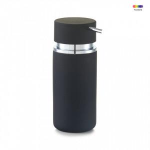 Dispenser sapun lichid negru din ceramica 300 ml Rubber Zeller