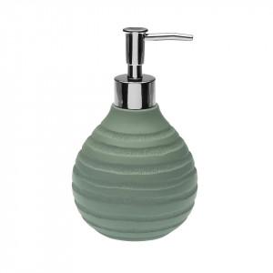 Dispenser sapun lichid verde din rasina 10x16 cm Naomi Versa Home