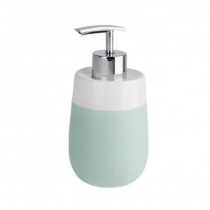 Dispenser sapun lichid verde menta/alb din ceramica 290 ml Malta Wenko
