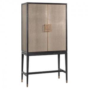 Dulap auriu antichizat/negru din poliuretan si lemn 182 cm Bloomingville Richmond Interiors