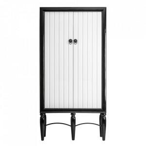Dulap negru/alb din MDF si lemn 220 cm Gaeta Vical Home