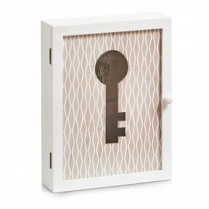 Dulapior alb/crem din lemn si MDF pentru chei Nordic Key Box Zeller
