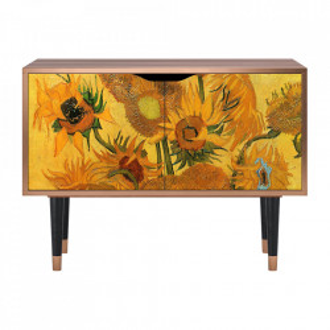 Dulapior multicolor din MDF si lemn Sunflowers By Vincent Van Gogh Clara Furny