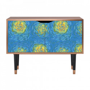 Dulapior multicolor din MDF si lemn Van Gogh Lights Clara Furny