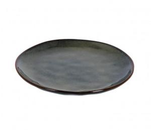 Farfurie alba/albastru inchis din ceramica pentru desert 20,7 cm Odile Kave Home
