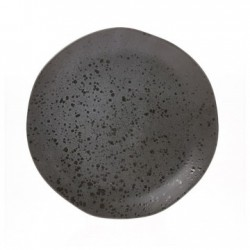 Farfurie gri din ceramica 28,5 cm Bold and Basic Grey HK Living
