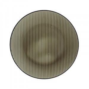 Farfurie intinsa grej din ceramica 25 cm Kris Avi LifeStyle Home Collection
