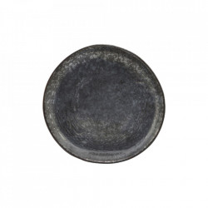 Farfurie intinsa pentru deserturi neagra/maro din portelan 16,5 cm Pion House Doctor
