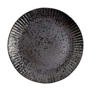 Farfurie neagra din ceramica 21,5 cm Ansh Madam Stoltz