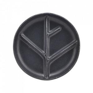 Farfurie pentru aperitive gri inchis din ceramica 22,3 cm Branch House Doctor