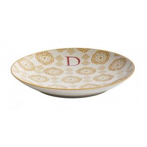 Farfurie pentru desert multicolora din ceramica 20 cm D Letter Nordal