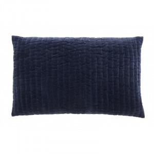 Fata de perna albastra din catifea 38x63 cm Castor Nordal