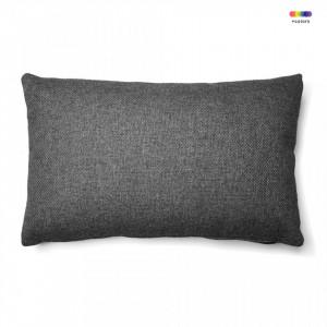 Fata de perna gri grafit din textil 30x50 cm Mak Avi La Forma