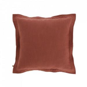 Fata de perna maro din textil 45x45 cm Maelina La Forma